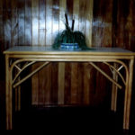 Wood Top Hall Table